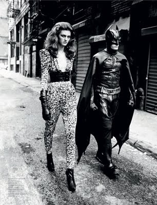 Fancy Batman on a fashion shoot.