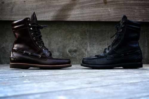 Ronnie Fieg x Sebago King Point Boots Welcome back the Ronnie Fieg for Sebago footwear collection. This Fall/Winter 2011 presents the 8″ Kings Point boots named after a neighborhood in Long Island where Fieg would often visit family. The boots feature Horween leather uppers, leather lining, removable kiltie, goodyear welted Vibram mini lug outsole, leather midsoles, double padded leather collar, a padded leather tongue, and leather laces. The boots are available in black and umbro, limited to 120 pairs per colorway for $190 USD. Purchase these limited boots Thursday, December 22nd at 11am EST at Kith NYC, Kith BK and RonnieFieg.com.