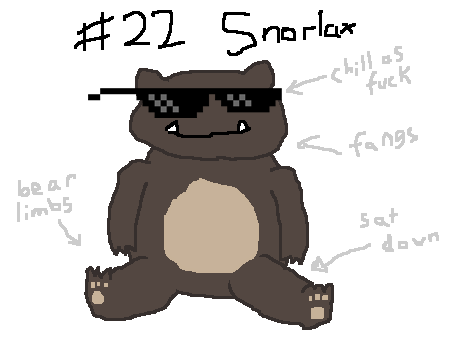"COOLEST POKEMON: Snorlax I skipped ""favourite battle pokemon"" because I haven't played pokemon since I was like 12"
