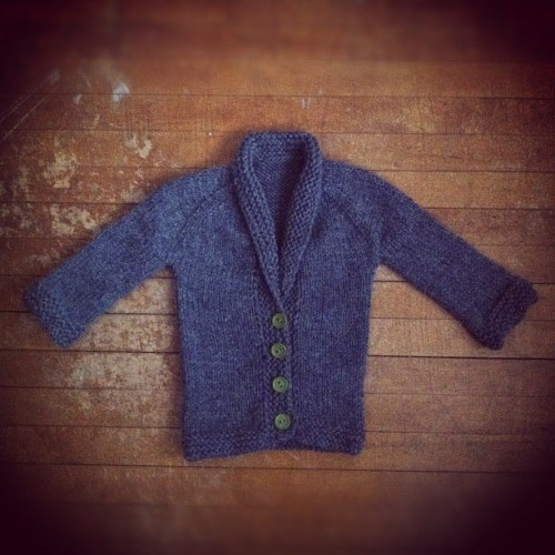 baby sophisticate cardi for t-bone.  (Taken with instagram)