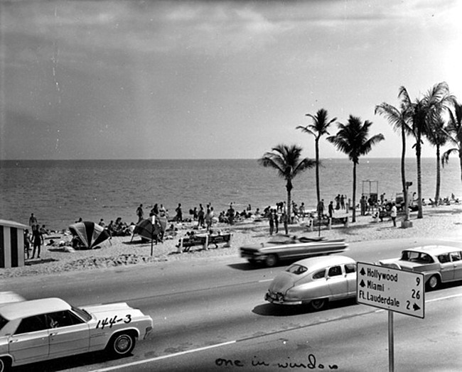 distinguishedcompany:  prova275: Ft. Lauderdale Beach (A1A)… 1962love the Caddy convertible