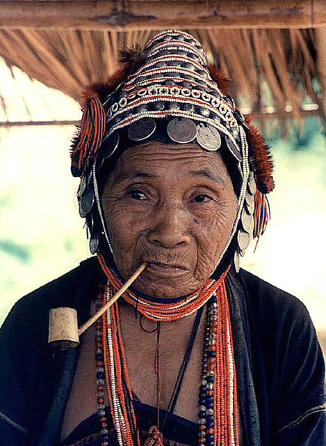 "Title: ""Akha Woman With Pipe"".Photo by Bangkok Blue Johnson."