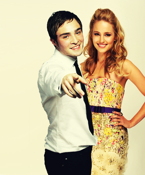 yourcrackship:  santana-the-ravenclaw requested Quinn Fabray and Chuck Bass (Manip)