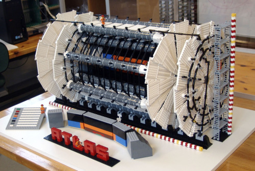 freshphotons:  Lego model of The Large Hadron Collider, Via Reddit.  The 'Atlas' is a nice touch!