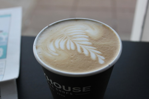 Pretty latte at Spyhouse. (Photo by Sarah McKenzie)