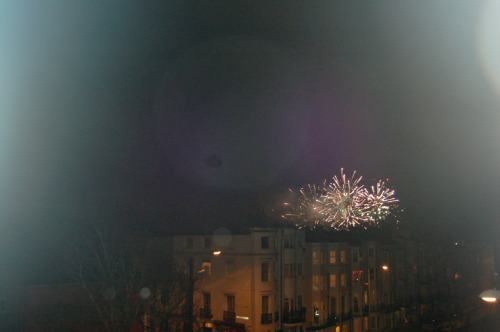 fireworks on the seafront.