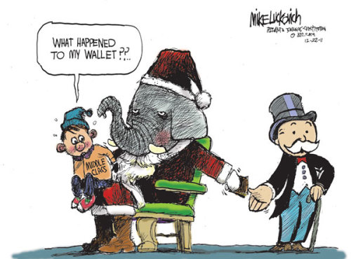 Mike Luckovich/Atlanta Journal-Constitution (12/22/2011)