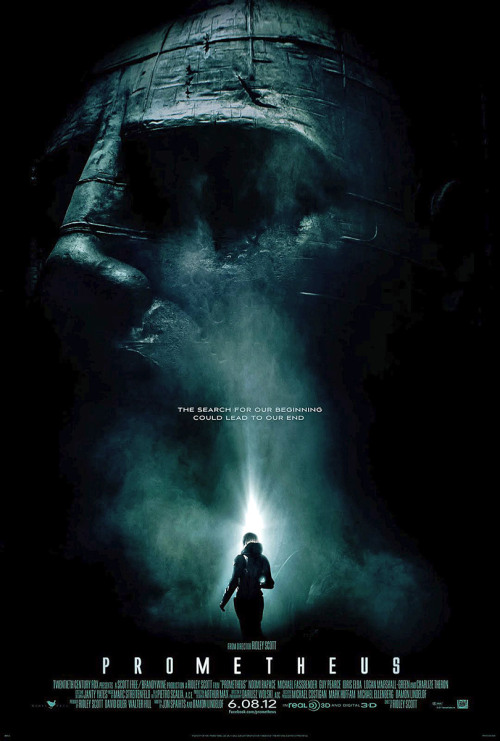 "Prometheus (Dir. Ridley Scott) ""The original Alien was a pretty savage engine. I've always said it was a C-movie done in an A-way. Because it was the Old Dark House, you know. Seven people in the Old Dark House, and they're all going to die. (He laughs) And they're gonna die horribly and that in itself is a tricky exercise, because you can do it well, you can do it badly. But somehow that worked. It turned out pretty well.  I think one of the reasons why I've never gone back to science-fiction, even though I've often noodled around, thought about it, looked for story, looked for material, is that there's a nice purity to the original Alien. It's fairly pure. And this one does actually raise all kinds of other questions, because if someone could, a being, could be as monstrously clever to create something like we experienced in the very first one – I always figured it's a weapon, and I always figured that [the ship in the first Alien] was a carrier of weapons. Therefore, who is that, inside that suit? That wasn't a skeleton, that was a suit. And if you open up the suit, what do you get inside it? And why were they going, where were they going?"" - Ridley Scott"