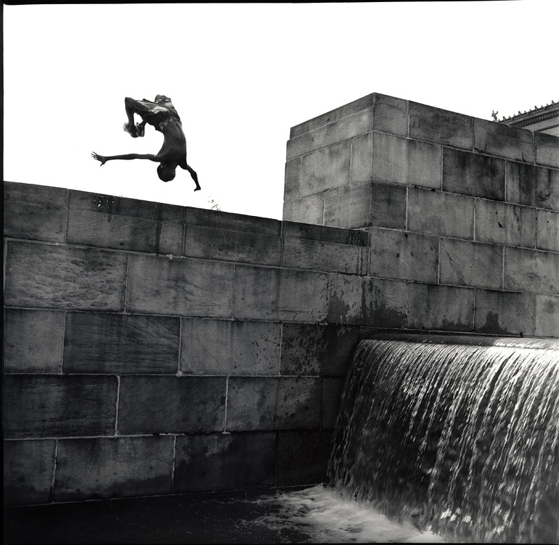 Philadelphia Art Museum © Jim Herrington  Back flip into knee deep water…