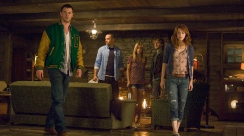 "The Cabin in the Woods (April 13) Starring: Chris Hemsworth, Bradley Whitford, Richard JenkinsDirected by: Drew GoddardThe Boogeyman: A remote cabin in the woods where strange things seem to happen…Fear Factor: We've been itching to see this Drew  Goddard-directed, Joss Whedon co-written spin on the usual  ""cabin-in-the-woods"" horror story since it was originally completed  three years ago. With those two involved, we're pretty sure it'll be  worth the wait. Read more: Winter Preview 2012: Scary Movies"