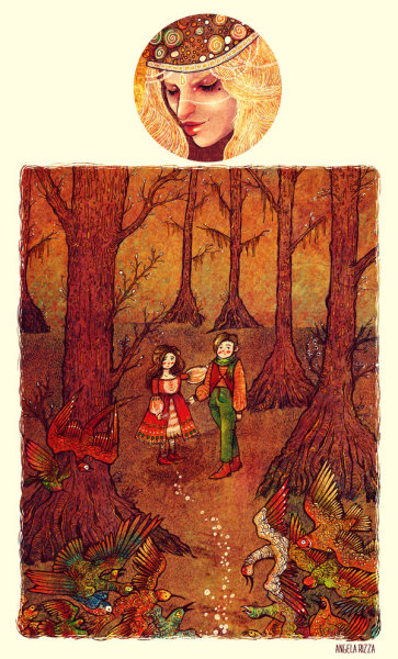 "fairytalemood:  ""Hansel and Gretel"" by Angela Rizza"