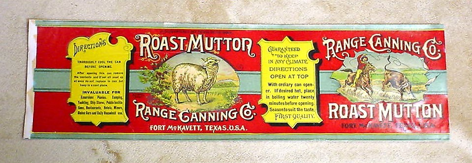 Roast Mutton LabelRange Canning Co.c. 1890s