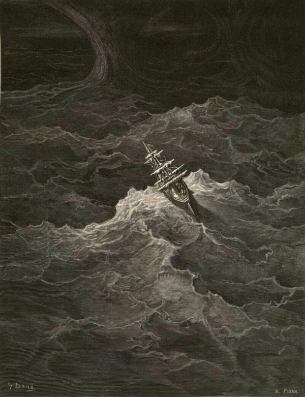 Illustration by Gustave Doré for The Rime of the Ancient Mariner