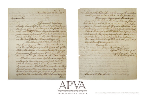 From the archives, a letter to John Marshall from George Washington. Happy New Year from all of us at Preservation Virginia!