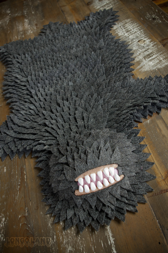 love love love katykelley:  Monster Skin Rug from Longoland