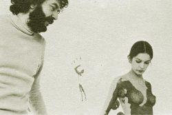 nosex:  alain robbe-grillet and actress anicée alvina on the set of glissements progressifs du plaisir AKA successive slidings of pleasure (1974)