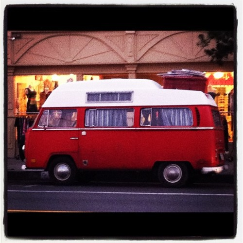 Sweet ride #venice #california  (Taken with instagram) Volkswagen buses and Volvo station wagons are the cars that I associate with California. You just don't see these rides as much in Boston.
