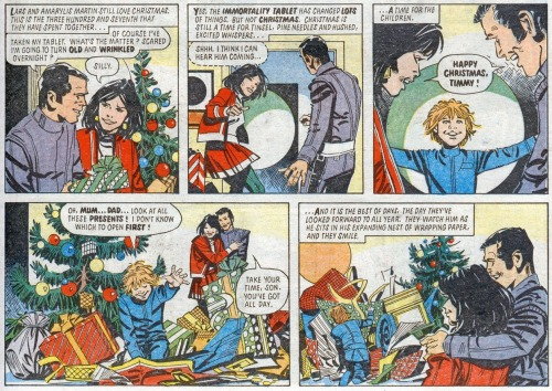 'Happy Christmas, Timmy!' Tharg's Future Shocks: One Christmas During Eternity, 2000AD Prog 271 (1982), artist: Jesús Redondo