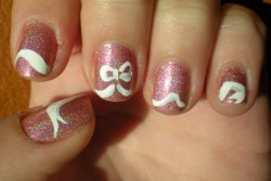 Pink Holographic w/ a White Bow