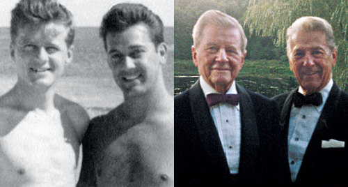 "michygeary:  tyleroakley:   Louis Halsey, 88, and John Spofford, 94, November 11, 2011 New York City, New York The couple married after 64 years together.  Inspiring.  ""Being gay is a fad."" ""Something you grow out of."""