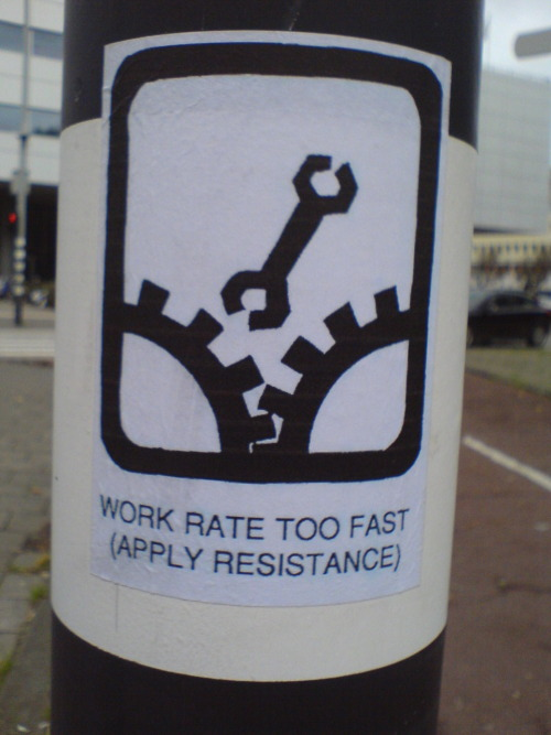 yetanotherstickers:  Work rate too fast! (Apply resistance)