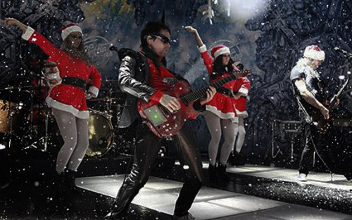 Muse on the Top Of The Pops Christmas Special in 2009