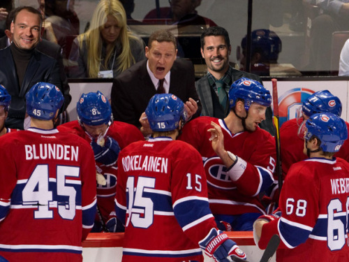 experience and know-how behind the bench! (artist's impression, real #habs bench may differ)