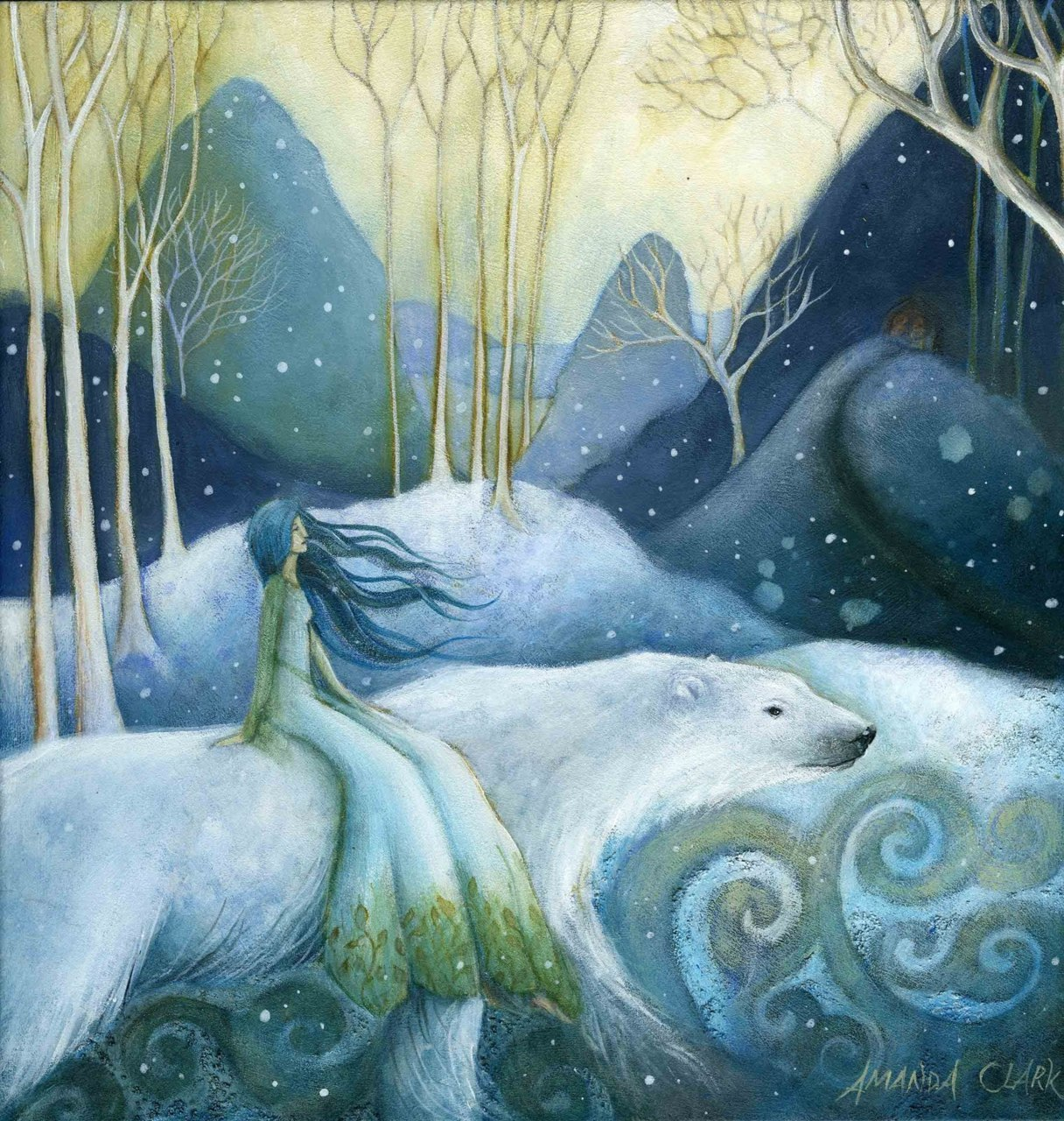 "fairytalemood:  ""East of the Sun and West of the Moon"" by Amanda Clark"