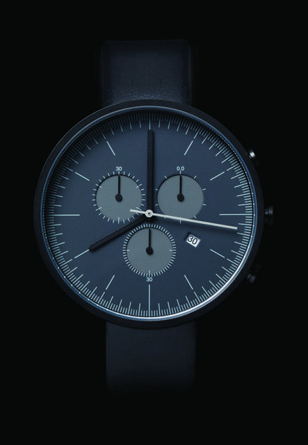 userdeck:  Blue minimal watch.
