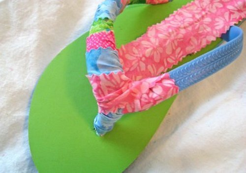 another way to cover and pad your flip flop straps