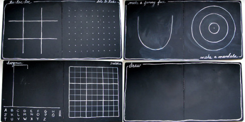 paint an old board book with chalkboard paint for hours of fun for kids