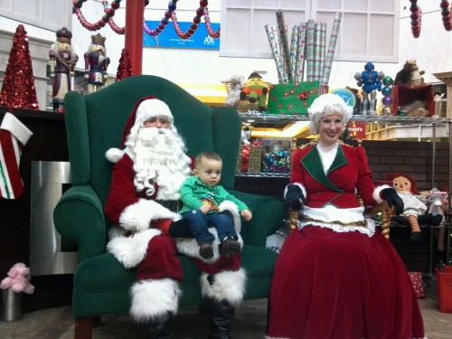 George made a great 1st impression on Mr. & Mrs. Claus
