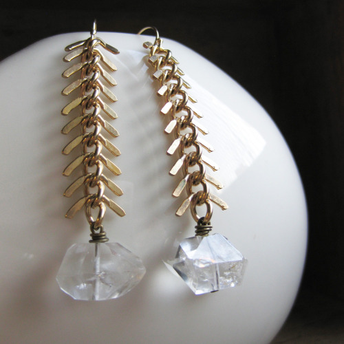 fishbone spikes & herkimer diamonds