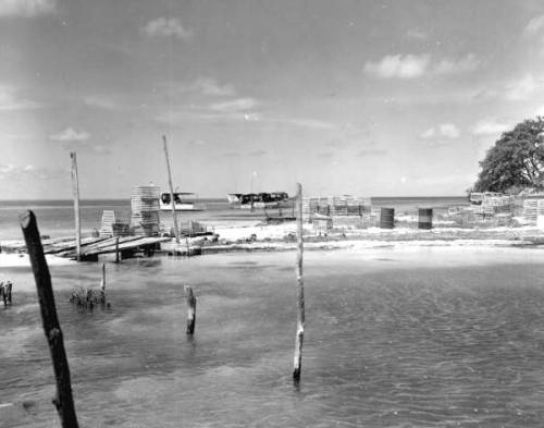 Lobster traps off of Marquesas Key, 1958. Source: Department of Commerce Collection
