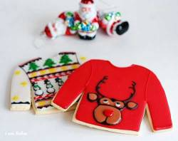 Ugly Sweater Christmas Cookies by I Am Baker