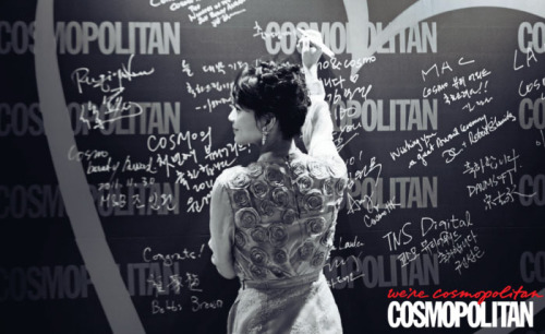 shin mina, cosmopolitan korea january 2012
