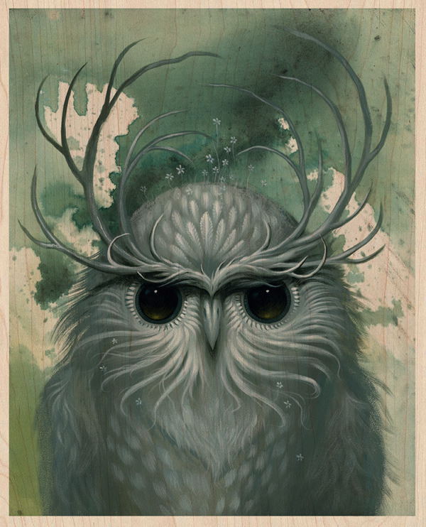 orgonite:  Snow Owl by Jeff Soto