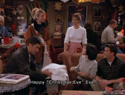friendsscreencaps:  The One With Phoebe's Dad HAPPY CHRISTMAS EVE EVE FOLLOWERS!