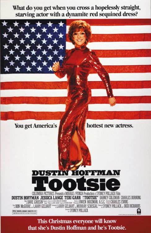 "Tootsie (1982) P365 Film #360 I don't think I would've bothered with this film if it wasn't for Dustin Hoffman. And he was great. The plot has his character (an unemployed actor) disguising himself as a woman in order to get a role on a soap opera. Sound familiar? Yeah, I think that was my problem. I've seen this sort of thing in Some Like It Hot (1959) and again in Mrs. Doubtfire (1993). So, the whole ""it's funny because he's actually a man"" thing was tired and didn't work for me. It's not a terrible film at all, just nothing special."