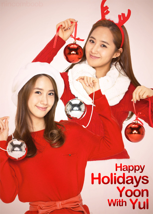 Happy Holidays with YoonYul~ ;D