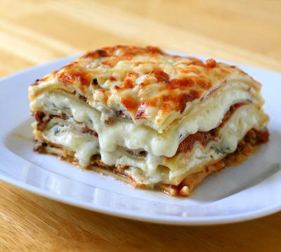 meat lasagna.