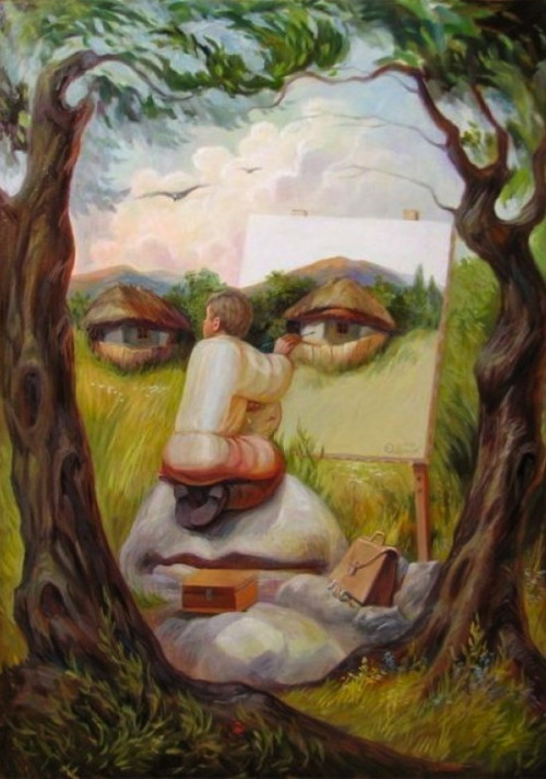 life82:  Art Oleg Shuplyak, Ukrainian Artist, Paints Incredible Optical Illusions