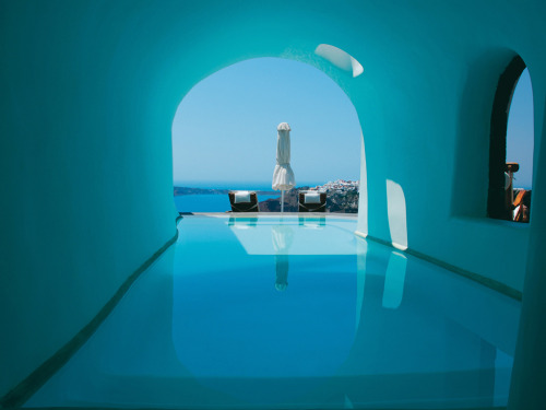 condenasttraveler:  Pools with a view | Perivolas, Santorini, Greece