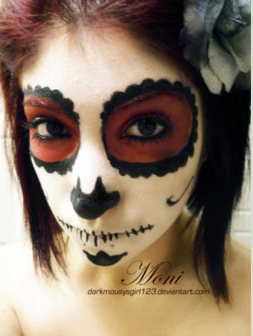 thegirlintheglasshouse:  Cool 'Mexican holiday' makeup