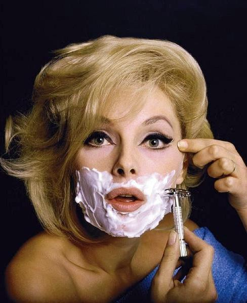 Virna Lisi, 1965, photo styled by Jean-Paul Goude.