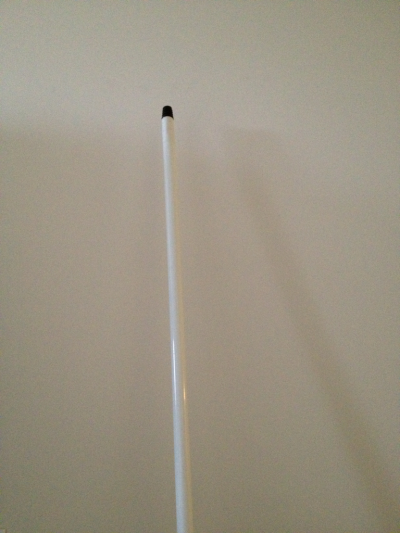 The Festivus pole stands proud and unadorned.