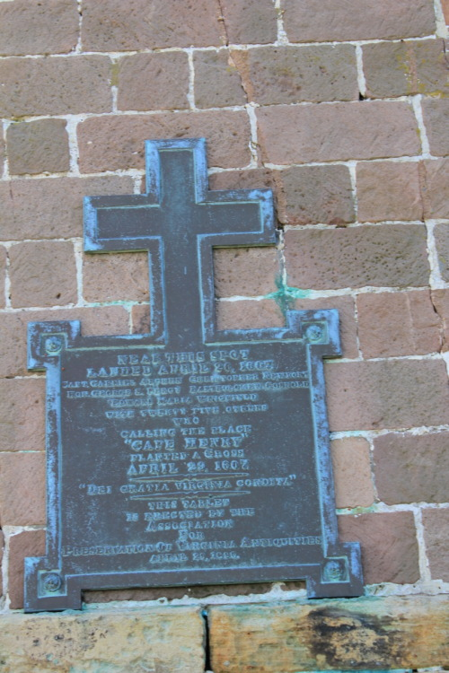 From the archives, the metal cross commemorating the First Landing at Cape Henry on April 26, 1607.