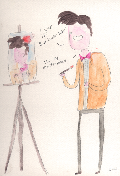 paintdoktahwho:  of course the first hand-drawn one has to be ridiculously meta. there was never any other option.