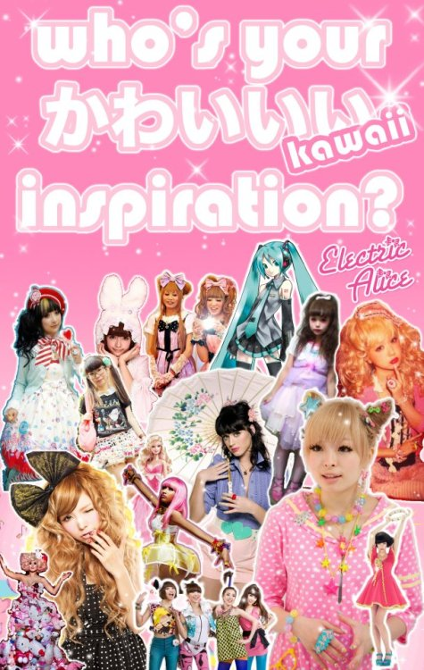 "Harajuku import store Electric Alice is hosting a ""Kawaii Style Inspiration Contest!"" It's basically exactly as it sounds — you post a photo of you in an outfit and how it relates to the person who inspires your ""kawaii"" style. Entries and voting are open until December 30th, so you still have time to vote, and submit your photo if you're really fast! There are some great looks that have already tallied a bunch of votes, but I'd like to give a signal boost to these two which I think aren't getting the love they deserve:  Victoria, inspired by Heri from Grimoire.  Reiko and Jiji are inspired by Choco and Mai. If you're a fan of Japanese fashion, you owe it to the world to cast your vote and share your favourite looks! Looking forward to seeing who wins!"