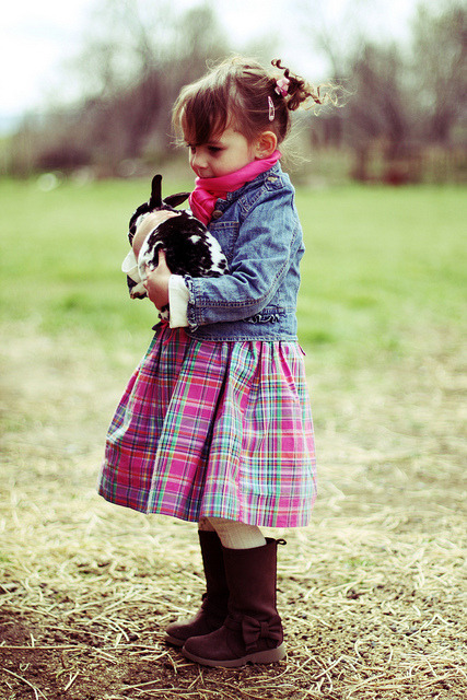 A dapper little lady dressed in her Sunday's best by hellsbellarina on Flickr.